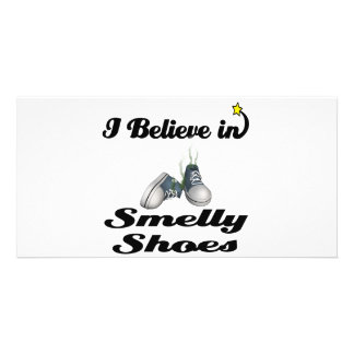i believe in smelly shoes photo greeting card