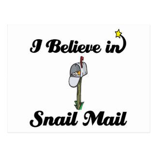 i believe in snail mail postcard
