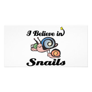 i believe in snails personalized photo card