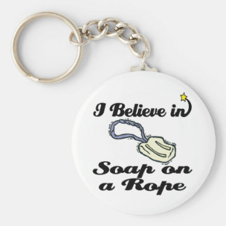 i believe in soap on a rope key ring