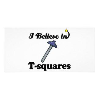 i believe in t-squares custom photo card