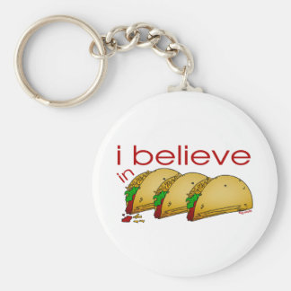 I believe in Tacos Basic Round Button Key Ring