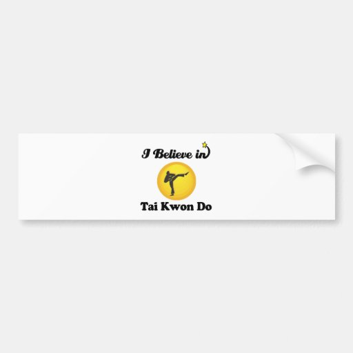 i believe in tai kwon do bumper sticker