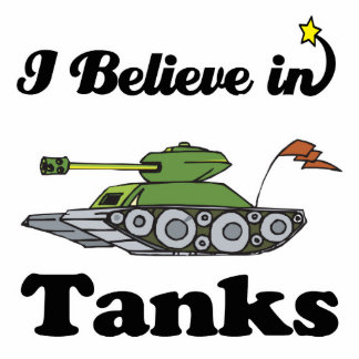 i believe in tanks acrylic cut outs