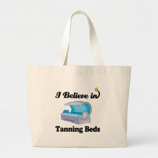 i believe in tanning beds tote bags