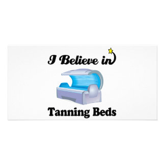 i believe in tanning beds photo cards