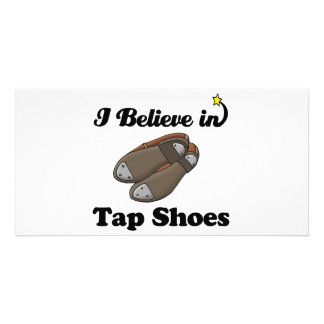 i believe in tap shoes customised photo card