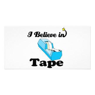 i believe in tape customized photo card