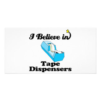 i believe in tape dispensers photo card template