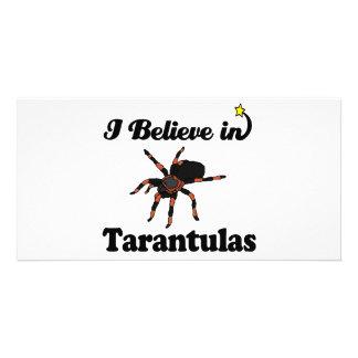 i believe in tarantulas personalized photo card