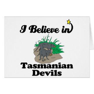 i believe in tasmanian devils card