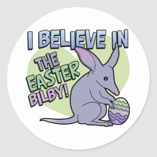 I Believe in the Easter Bilby Classic Round Sticker