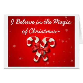 I Believe In The Magic Of Christmas Inmate Card