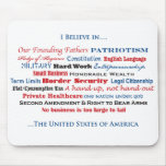 I Believe in the United States Mouse Pad