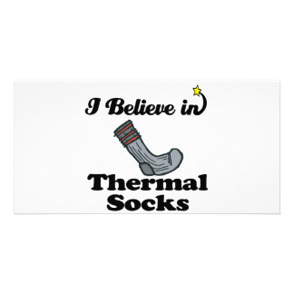i believe in thermal socks picture card