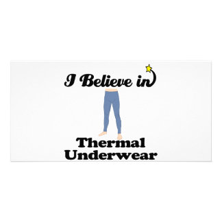 i believe in thermal underwear photo cards