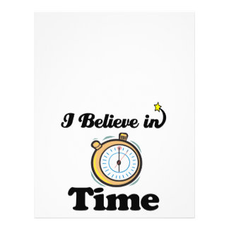 i believe in time 21.5 cm x 28 cm flyer