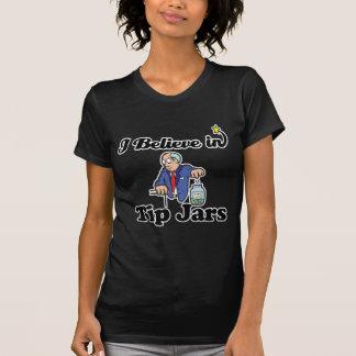 i believe in tip jars tee shirts