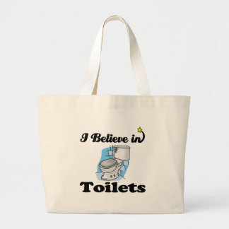i believe in toilets tote bag