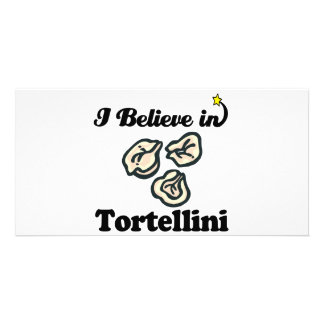 i believe in tortellini customized photo card