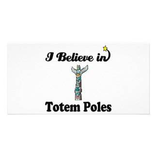 i believe in totem poles photo card template