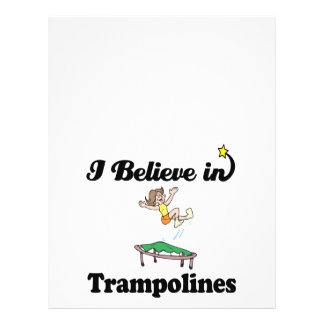 i believe in trampolines 21.5 cm x 28 cm flyer