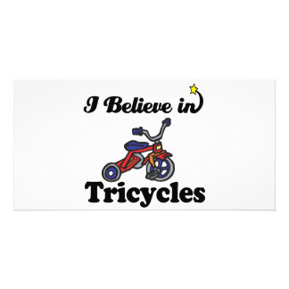 i believe in tricycles custom photo card