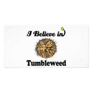 i believe in tumbleweed photo greeting card