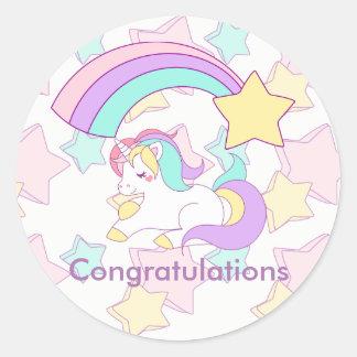I believe in Unicorns Classic Round Sticker