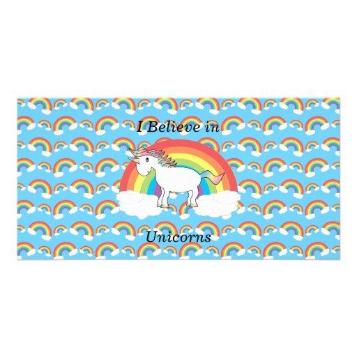 I believe in unicorns custom photo card