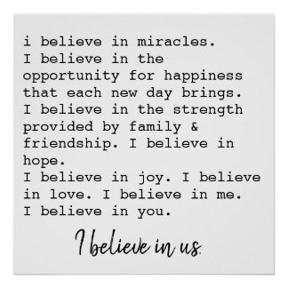 i believe in us poster