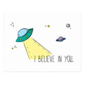 """I believe in you"" Postcard (Art by Em Somerville)"