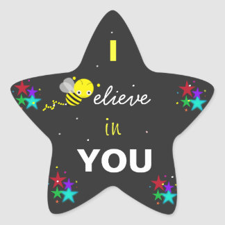 I believe in you Star Sticker