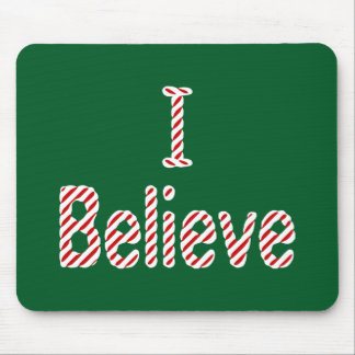 I Believe ~ Merry Christmas Santa Mouse Pad