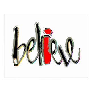 I Believe Postcard