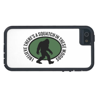 I Believe There's a  Squatch In These Woods Oval iPhone 5 Cover