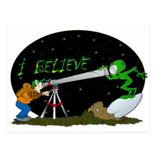 I Believe.... UFO'S Postcard