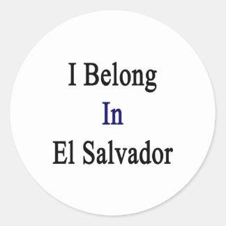 I Belong In El Salvador Round Sticker
