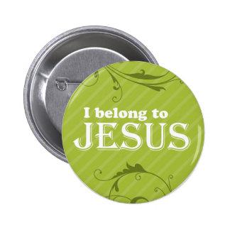 I Belong To Jesus 6 Cm Round Badge