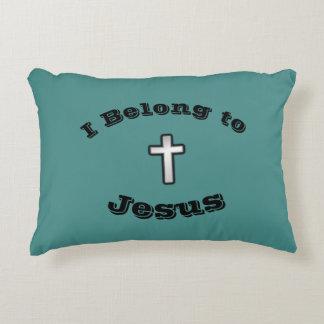I Belong To Jesus Pillow w/Black Outline Cross