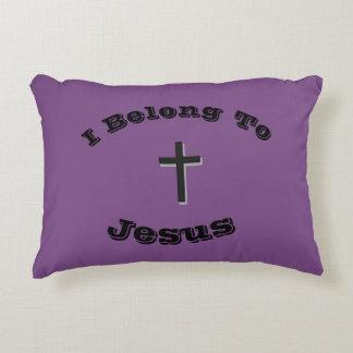 I Belong To Jesus Pillow w/Black Solid Cross