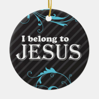 I belong to jesus round ceramic decoration