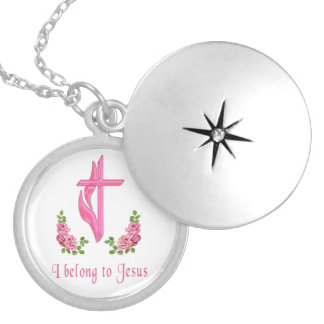 I belong to Jesus Silver Plated Necklace