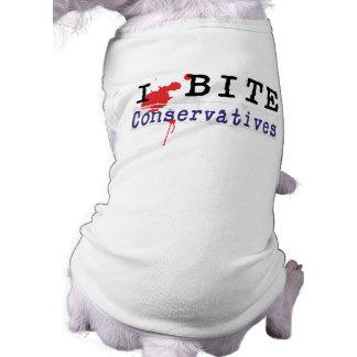 I bite Conservatives Dog Shirt