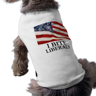 I Bite Liberals Sleeveless Dog Shirt