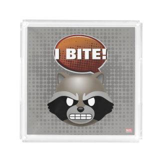 """I Bite"" Rocket Emoji Acrylic Tray"