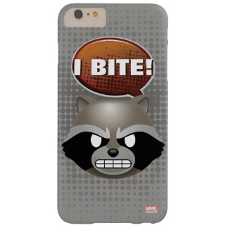 """I Bite"" Rocket Emoji Barely There iPhone 6 Plus Case"