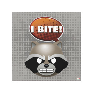 """I Bite"" Rocket Emoji Canvas Print"