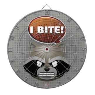 """I Bite"" Rocket Emoji Dartboard"