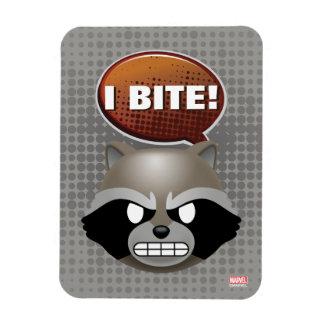 """""""I Bite"""" Rocket Emoji Magnet"""